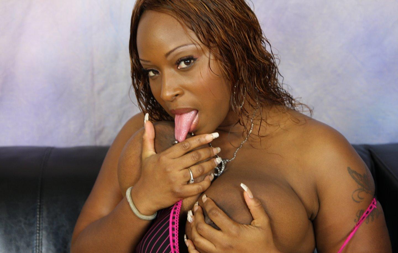 Ebony Takes Two Black Dicks